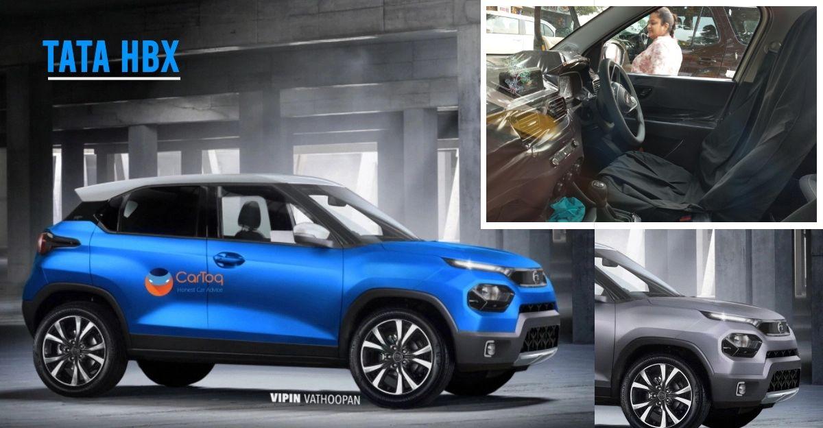 Tata Hornbill HBX micro SUV's interiors caught on camera ahead of launch