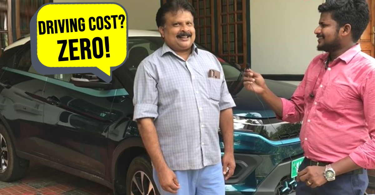 Tata Nexon EV owner explains how he uses Solar Power to recharge his electric SUV