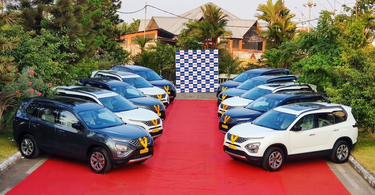 All new Tata Safari: 10 new SUVs delivered at the same time