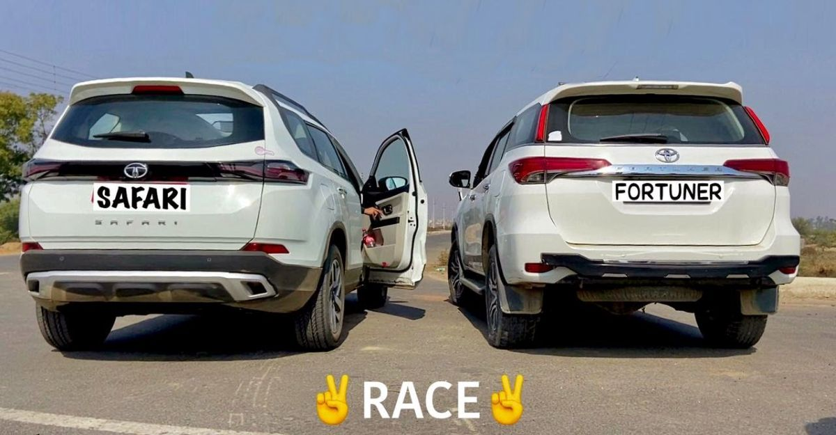 All-new Tata Safari takes on the Toyota Fortuner in a classic drag race