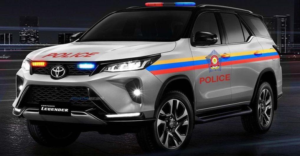 All-new Toyota Fortuner Legender reimagined as a police car - CarToq.com