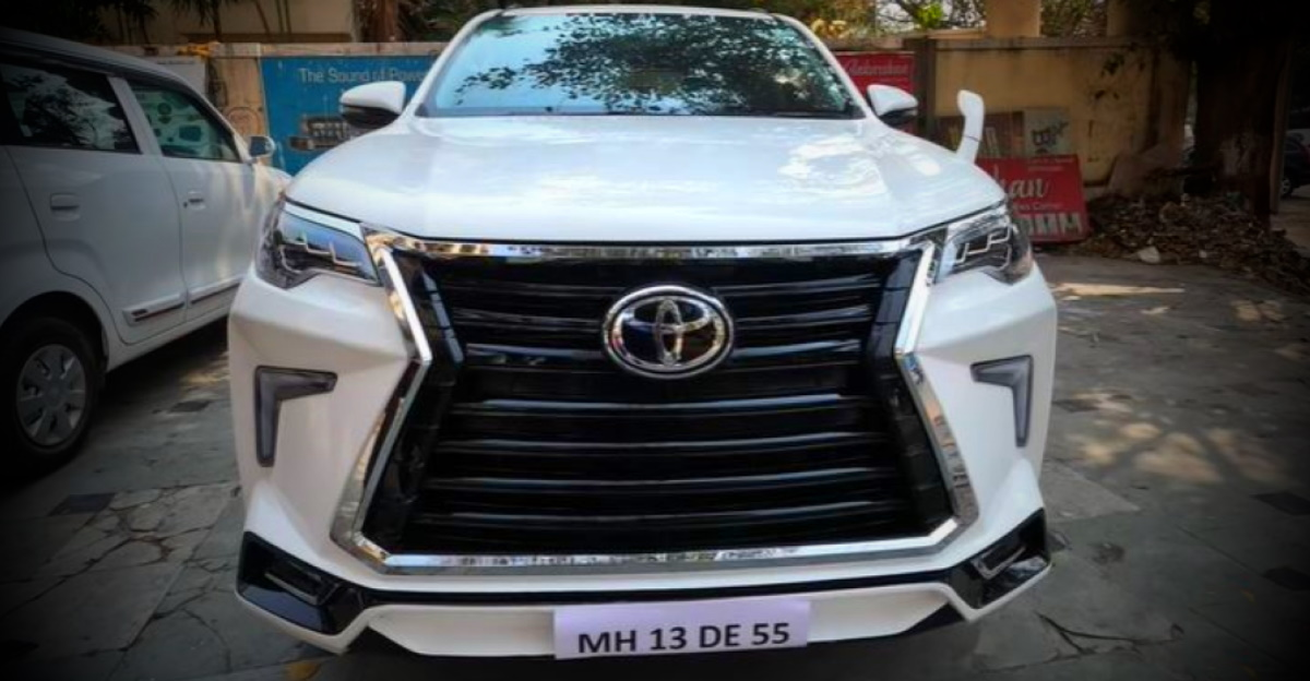 Toyota Fortuner SUV modified with a Lexus Kit looks stunning