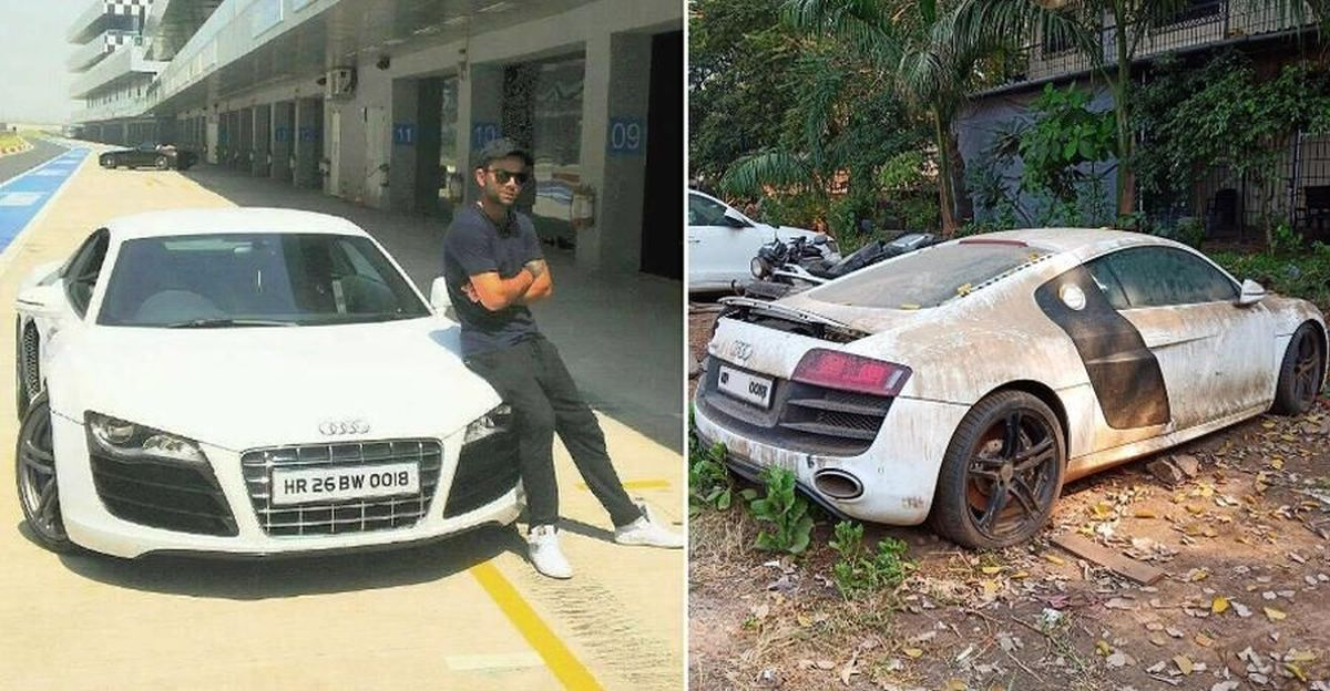Multi-crore Audi R8 supercar once owned by Virat Kohli now abandoned, & left to rot