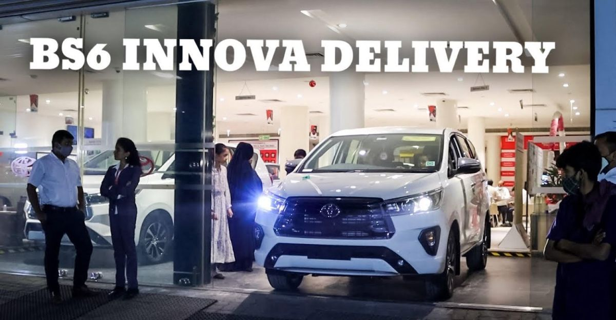 2021 Toyota Innova Crysta Facelift BS6 deliveries commence