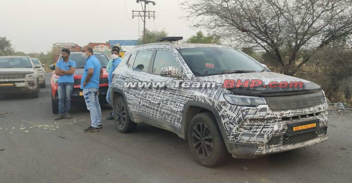 Upcoming Jeep Compass 7-seater spotted testing in India again