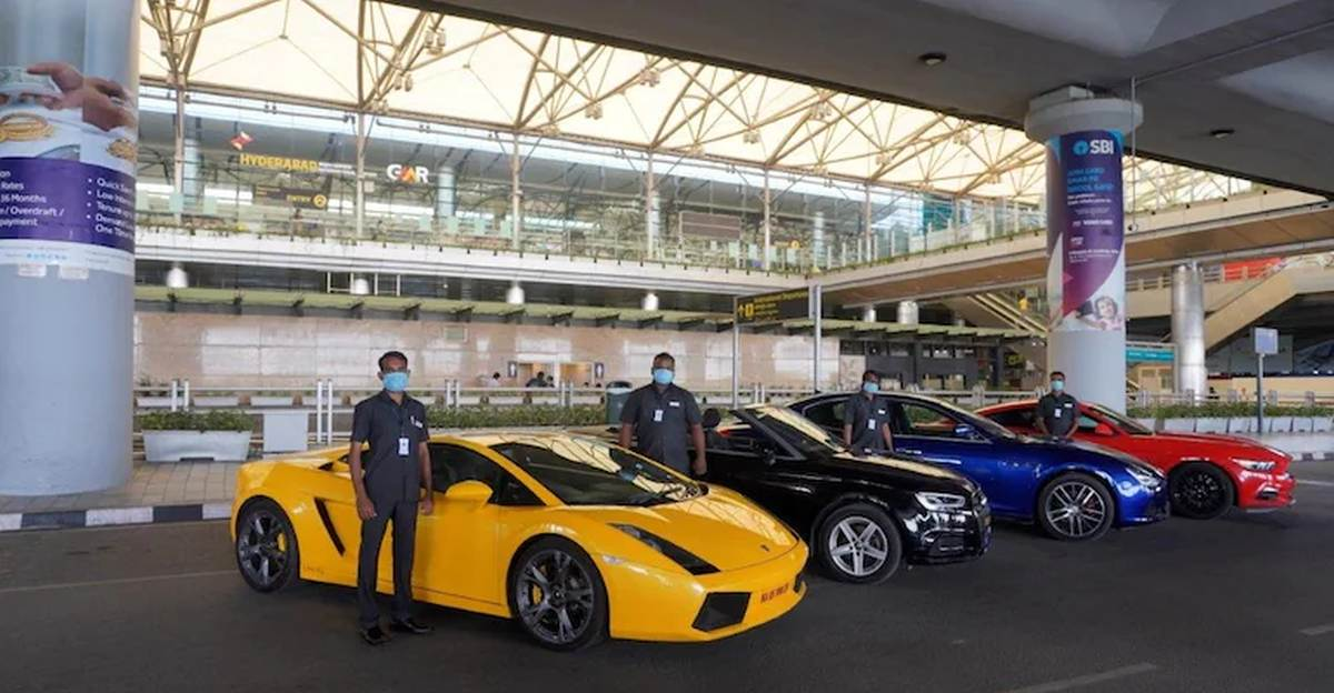 Hyderabad airport now offers Lamborghini, Mustang & other supercars as rental cars