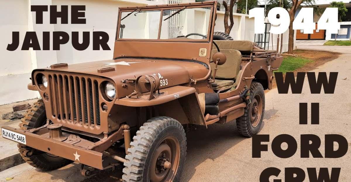 ORIGINAL 1944 WWII Ford GPW restored in India [Video]