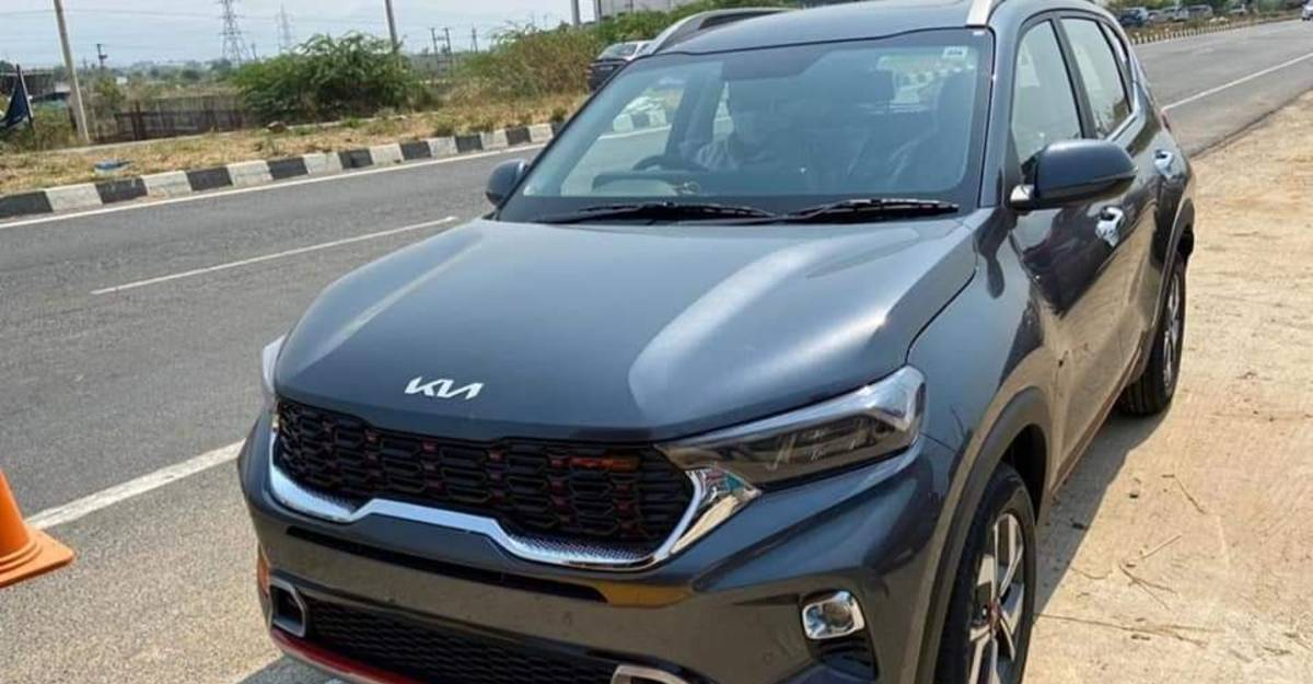 Kia Sonet with updated brand logo starts arriving at the showrooms