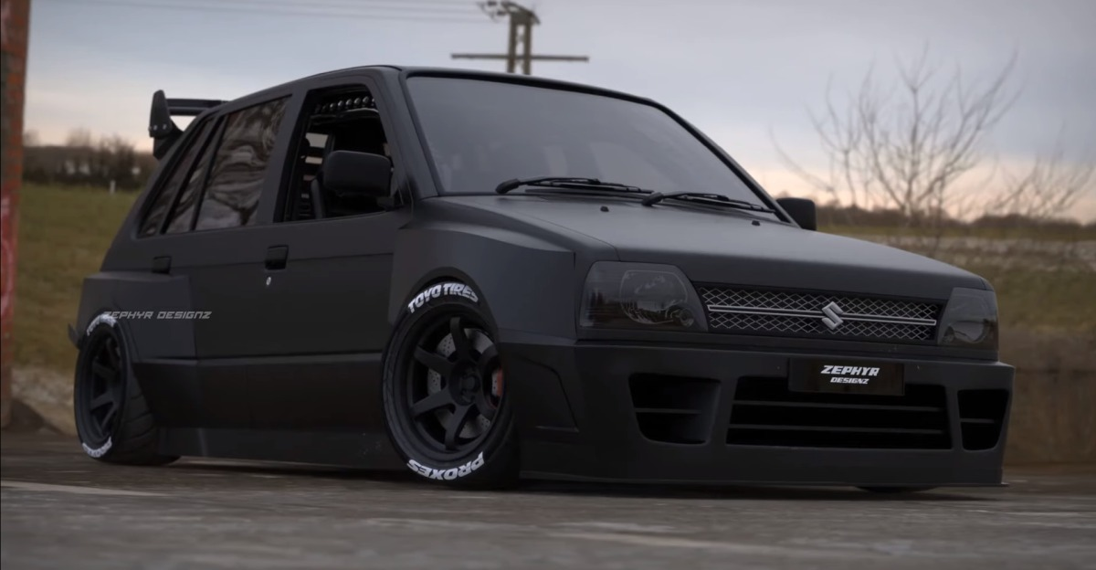 Maruti 800 as a rear-engined hot hatchback: What it'll look like