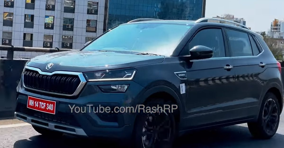 Skoda Kushaq compact SUV spotted without camouflage ahead of official launch