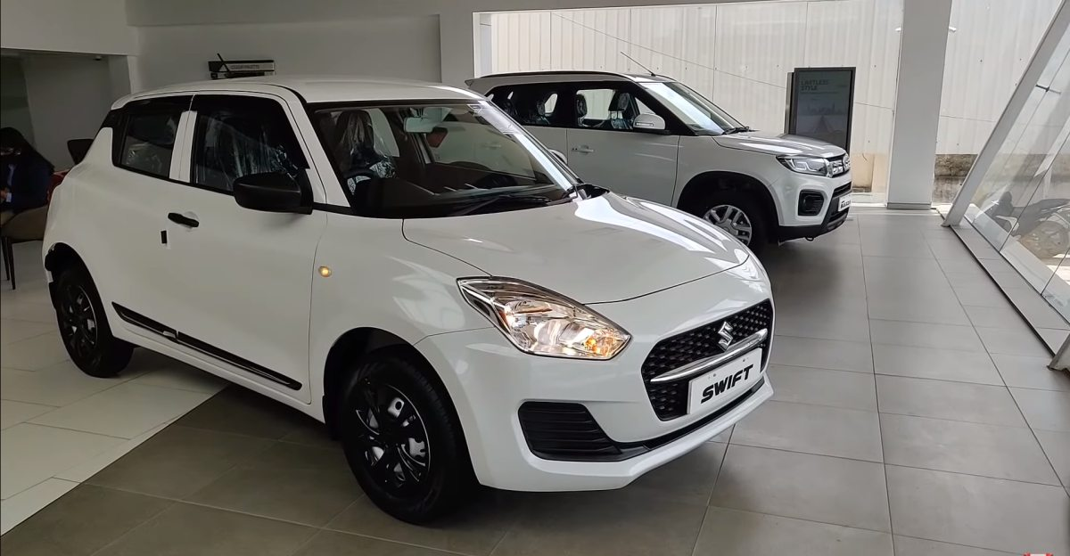 2021 Maruti Swift base trim with Limited Edition kit looks classy