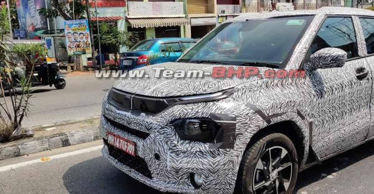 Tata Hornbill HBX micro SUV's production version SPIED