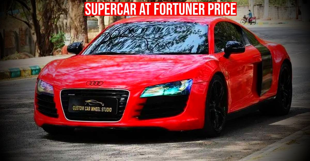 2 Audi R8 supercars selling cheaper than a Fortuner