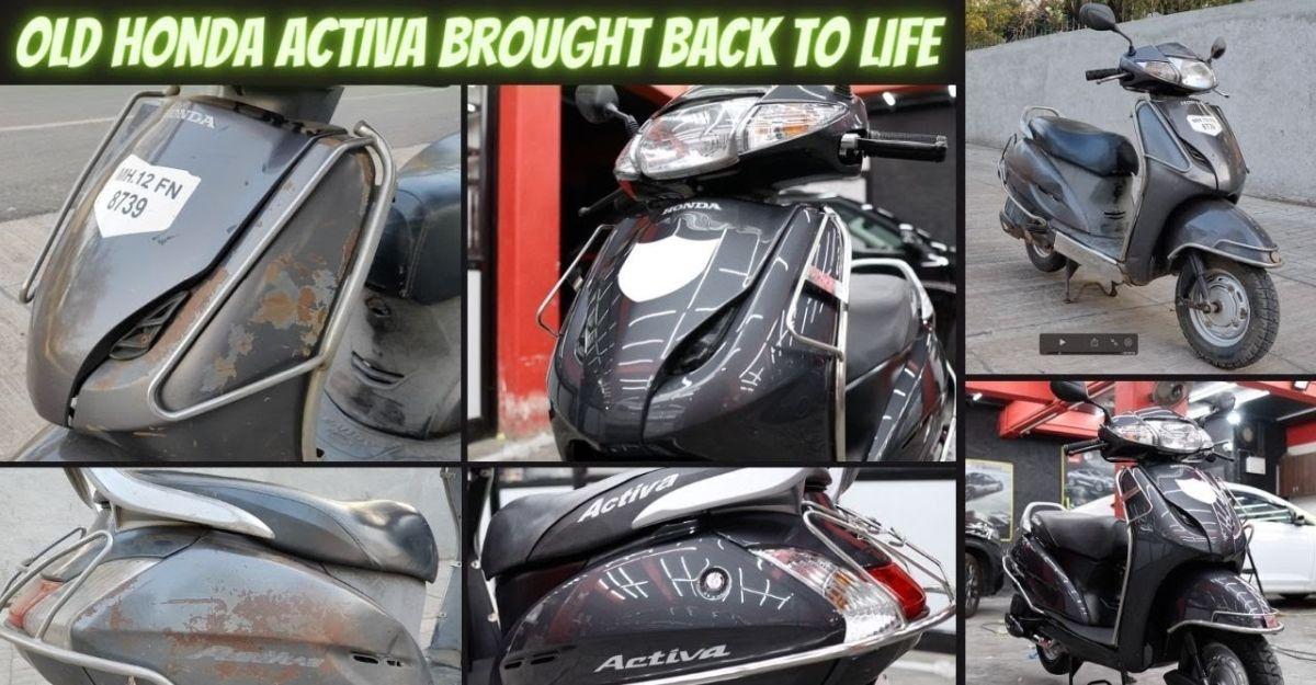 Watch a 12 year old Honda Activa scooter get beautifully restored