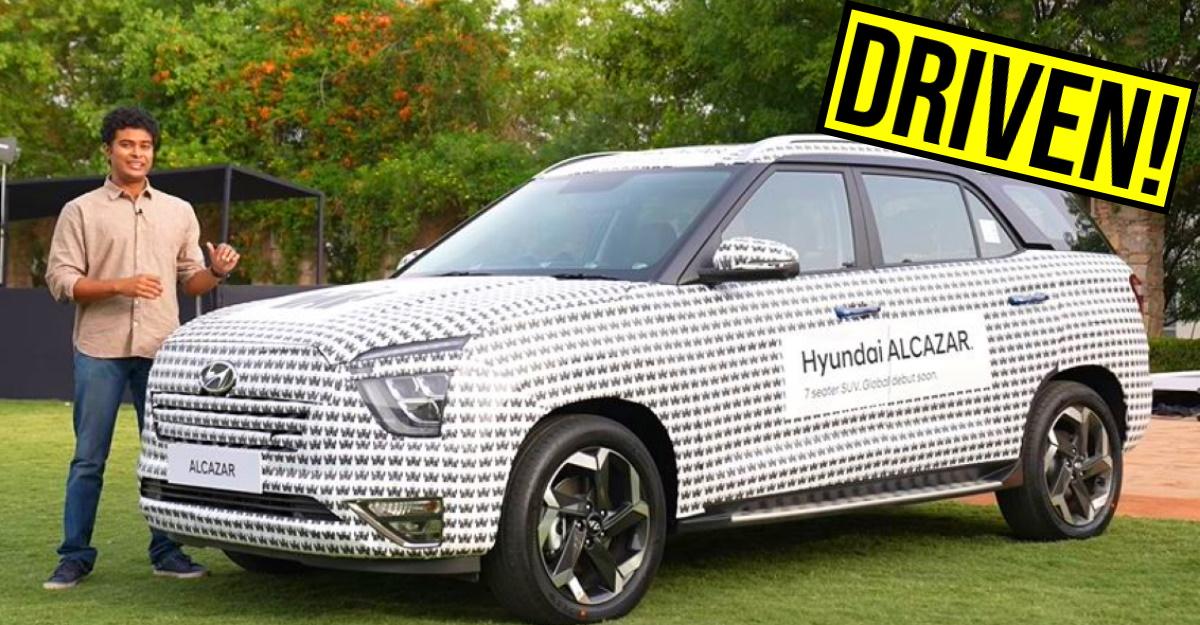 Hyundai Alcazar 7 seat SUV's first drive impressions on video
