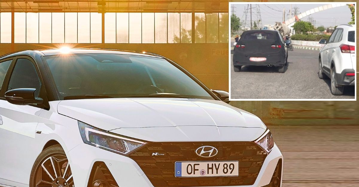 Hyundai i20 N Line spotted once again on Indian roads