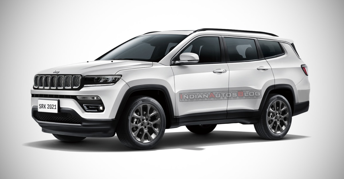 Jeep Compass 7-seater rendered: What it will look like