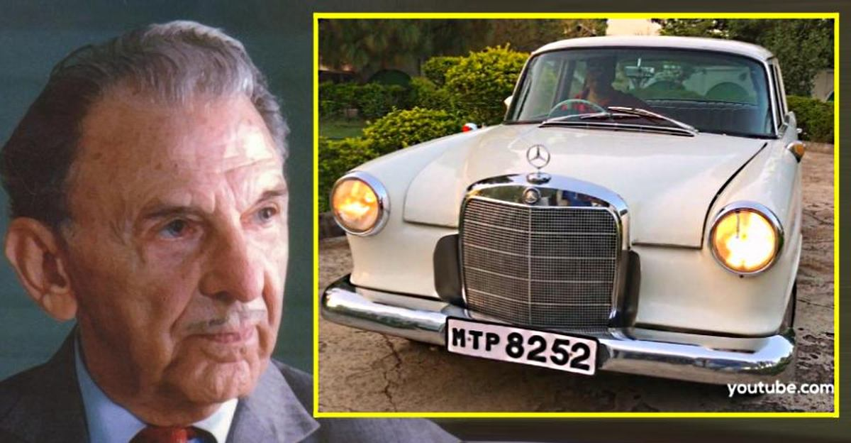 JRD Tata's Mercedes Benz 190D sedan in a rare video