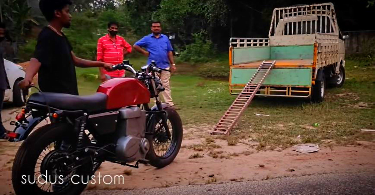 Kerala man builds an electric motorcycle at home