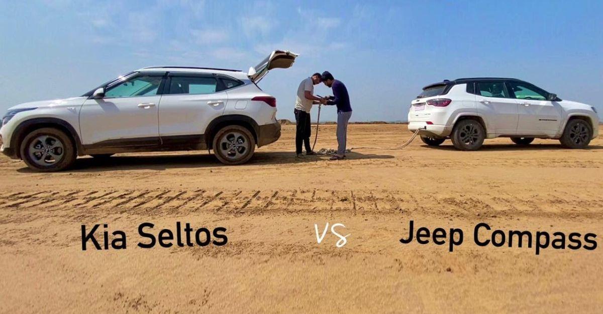 2021 Jeep Compass diesel vs Kia Seltos diesel in a classic tug of war