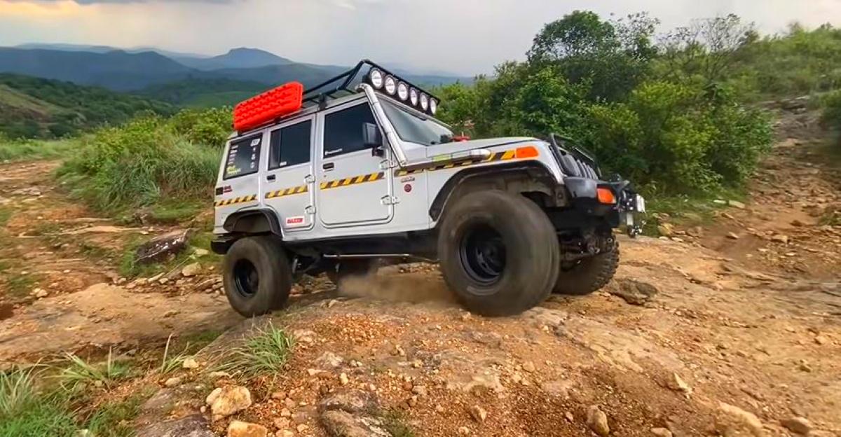 Mahindra Bolero 4X4 shows how capable it is off the road