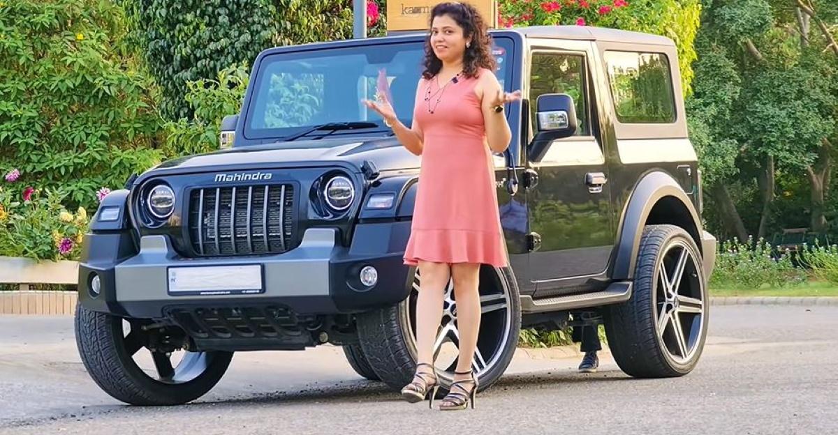 New Mahindra Thar installs MASSIVE 24 inch alloys: Explains how the SUV now rides [Video]