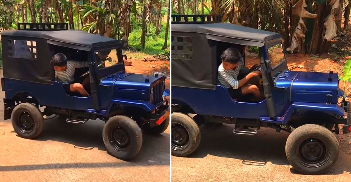 Kerala man builds an electric jeep for his children