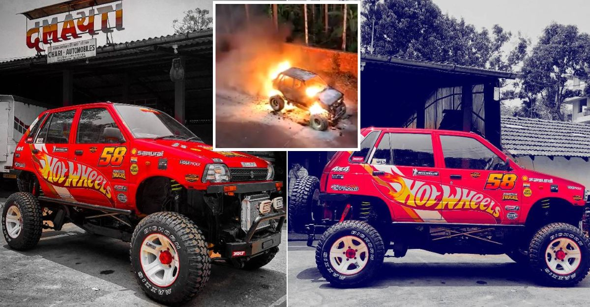 India's most EXTREME Maruti Suzuki 800 4X4 rebuilt in a week after it burned down