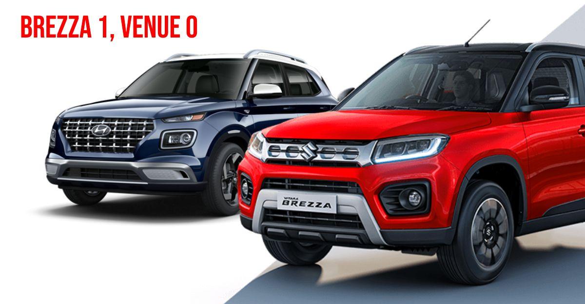 Maruti Brezza BEATS Hyundai Venue: Tata Nexon outsells Kia Sonet