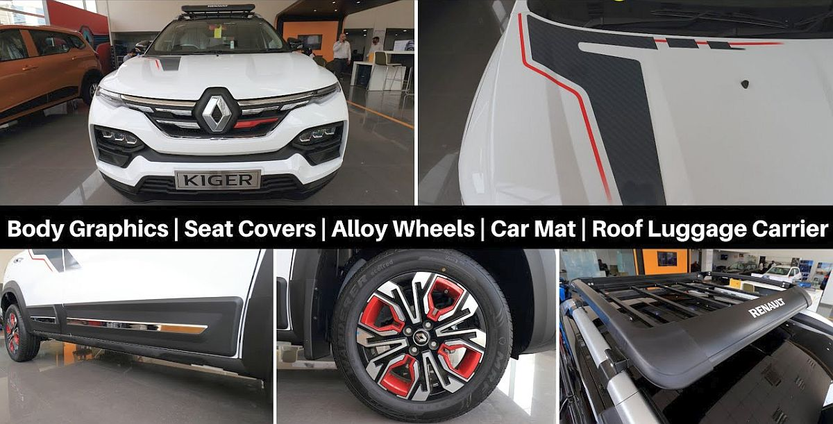 Renault Kiger compact SUV fitted with genuine accessories: What's on offer
