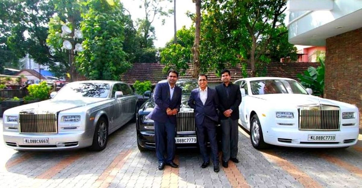 This Indian Businessman owns 3 Rolls Royces in 3 different colours, a helicopter & a private jet