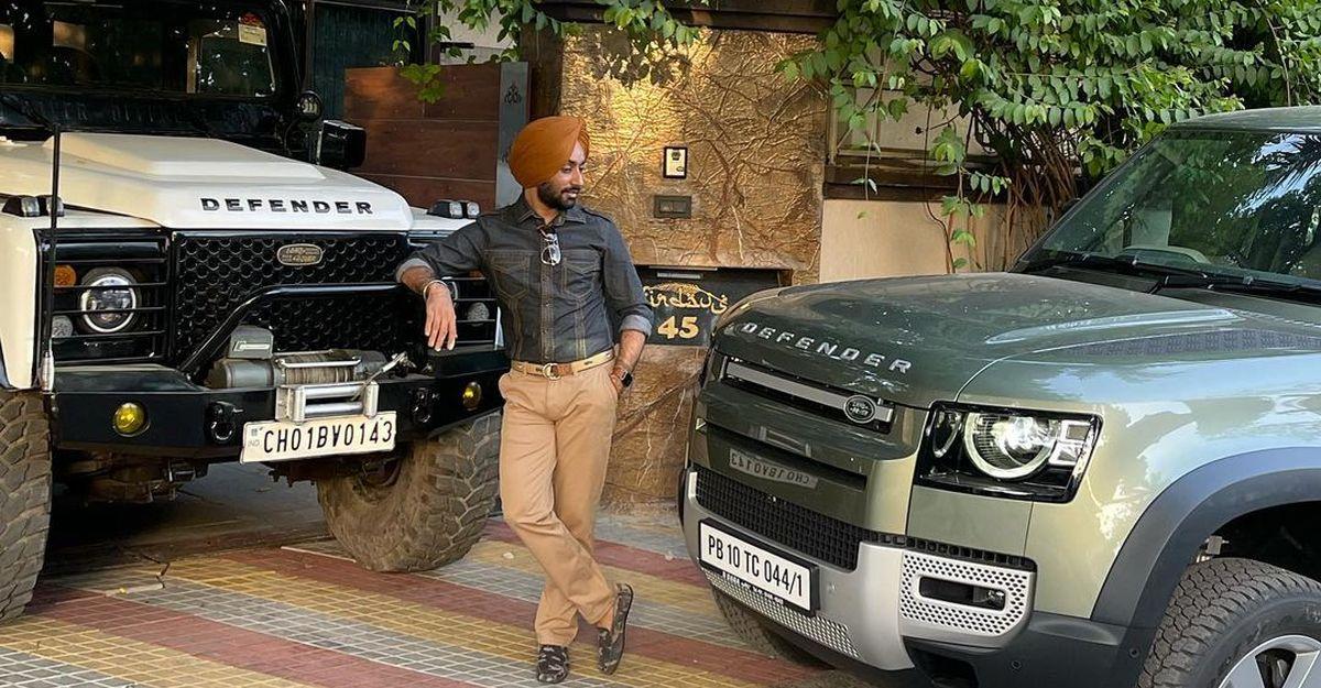 Punjabi Singer Sartaaj Singh buys the all-new Land Rover Defender, owns older Defender too