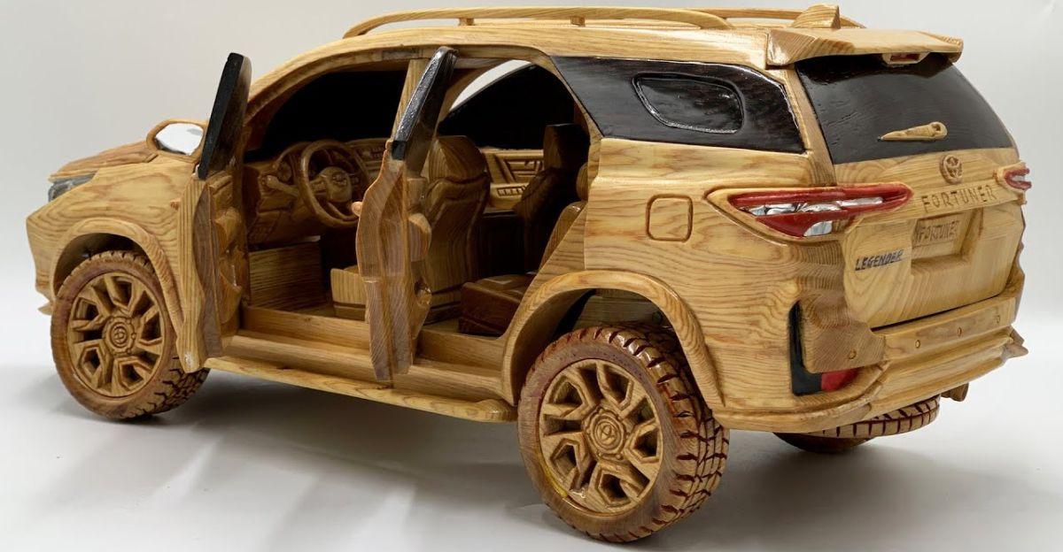 Artist carves Toyota Fortuner Legender from wood