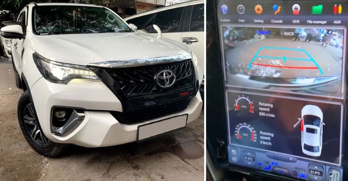 India's first facelifted 2021 Toyota Fortuner with Tesla-style touchscreen
