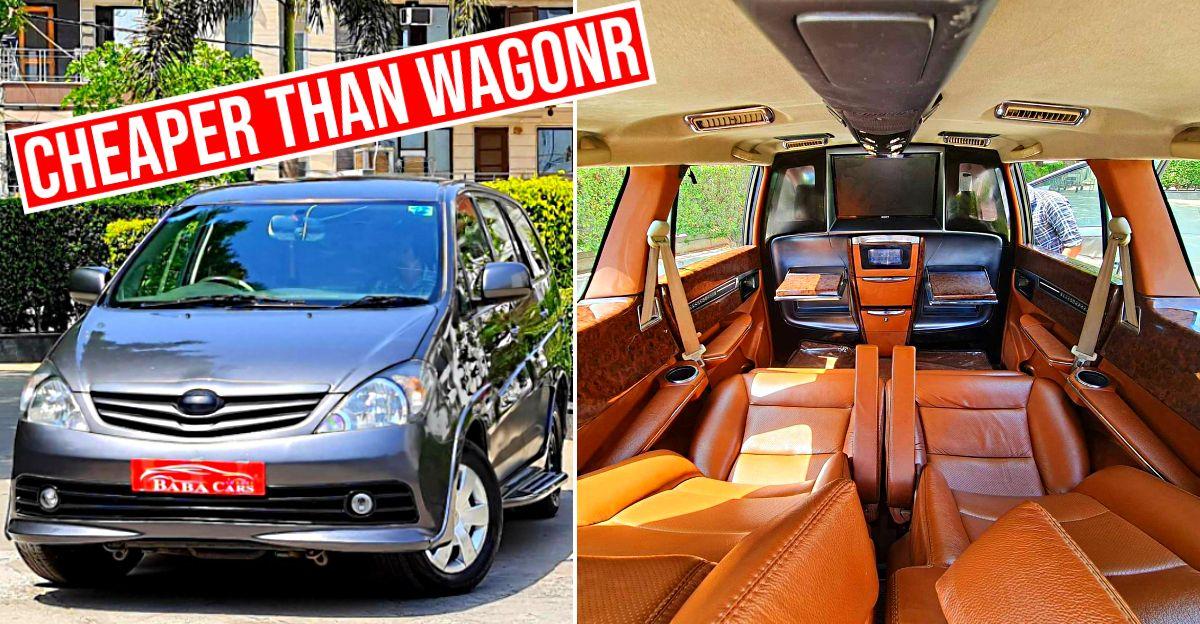 Super luxurious DC Design Toyota Innova selling cheaper than a WagonR