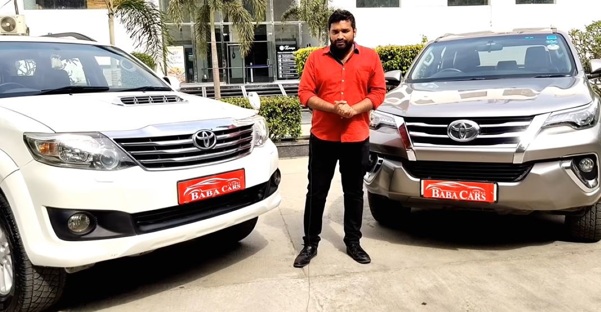 Used Toyota Fortuner SUVs starting from compact SUV prices