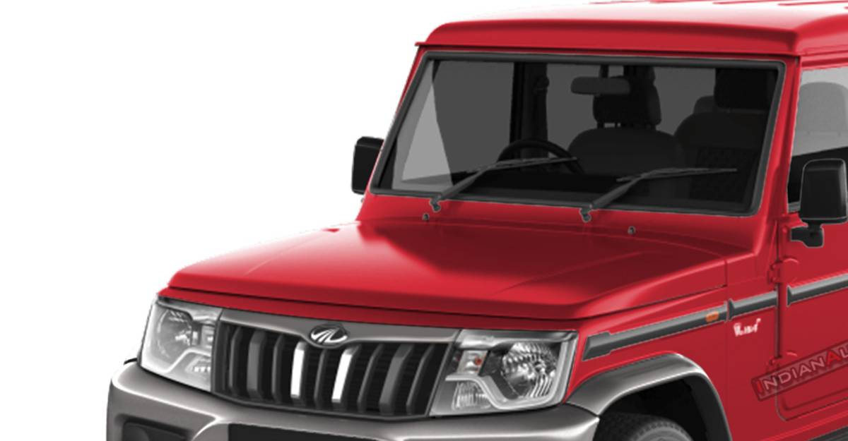 Upcoming Mahindra Bolero dual-tone revealed completely in this rendered image