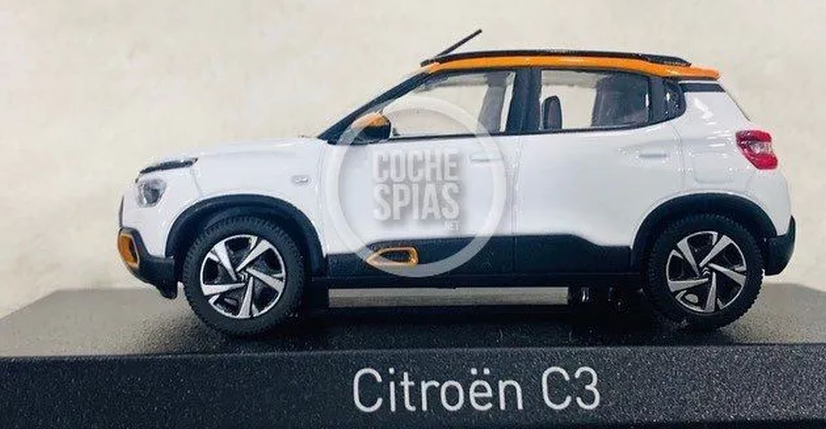 Citroen C3 compact SUV revealed through scale model