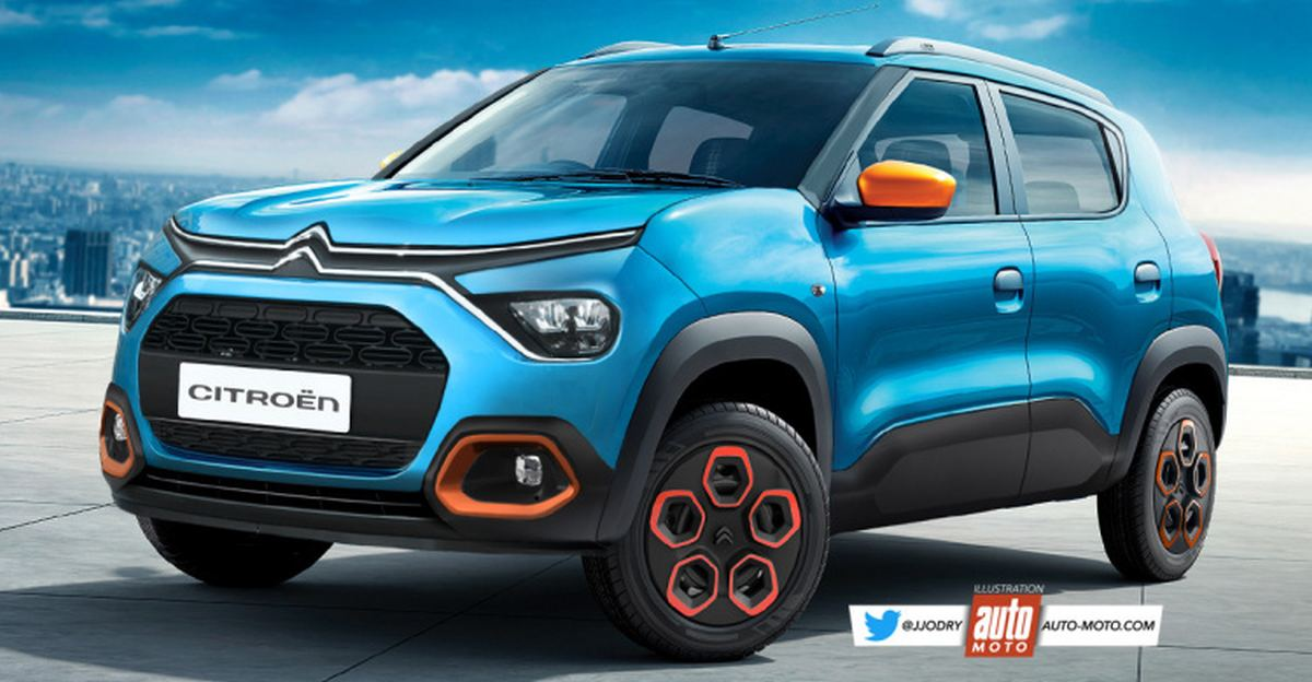Citroen CC21 compact SUV rendered ahead of launch