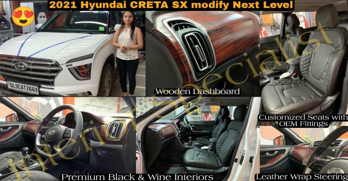 Hyundai Creta SX trim with customised interiors looks neat