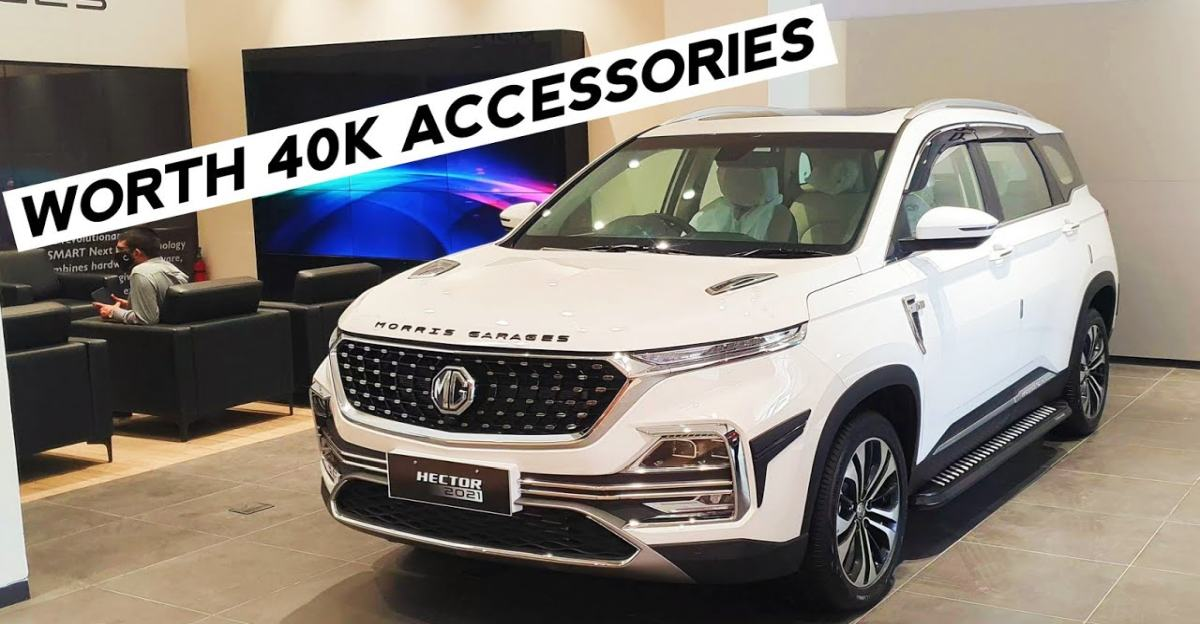 2021 MG Hector Facelift with genuine accessories on video