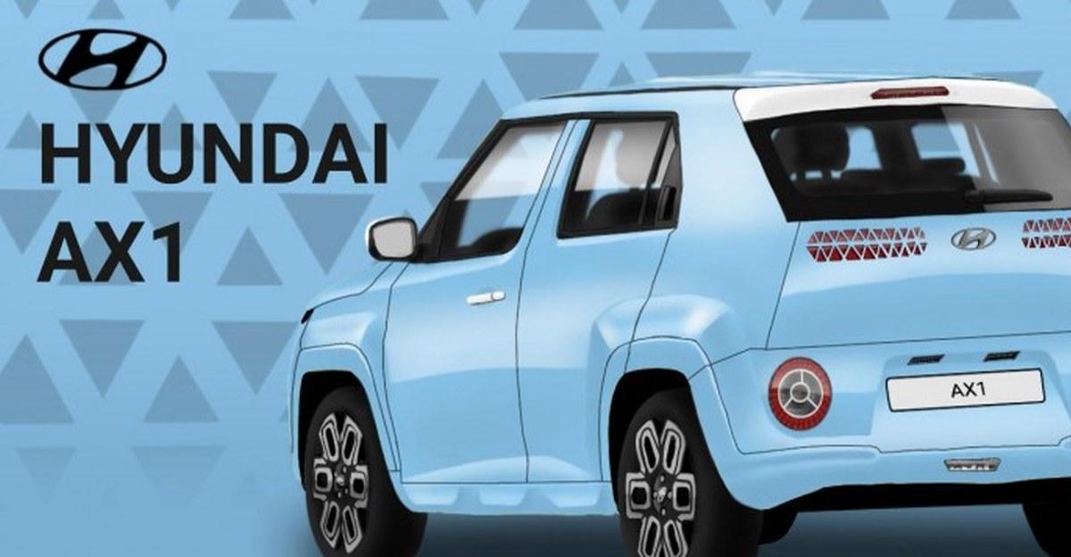 Hyundai AX1 micro SUV: Front & rear design of the Maruti S-Presso rival imagined