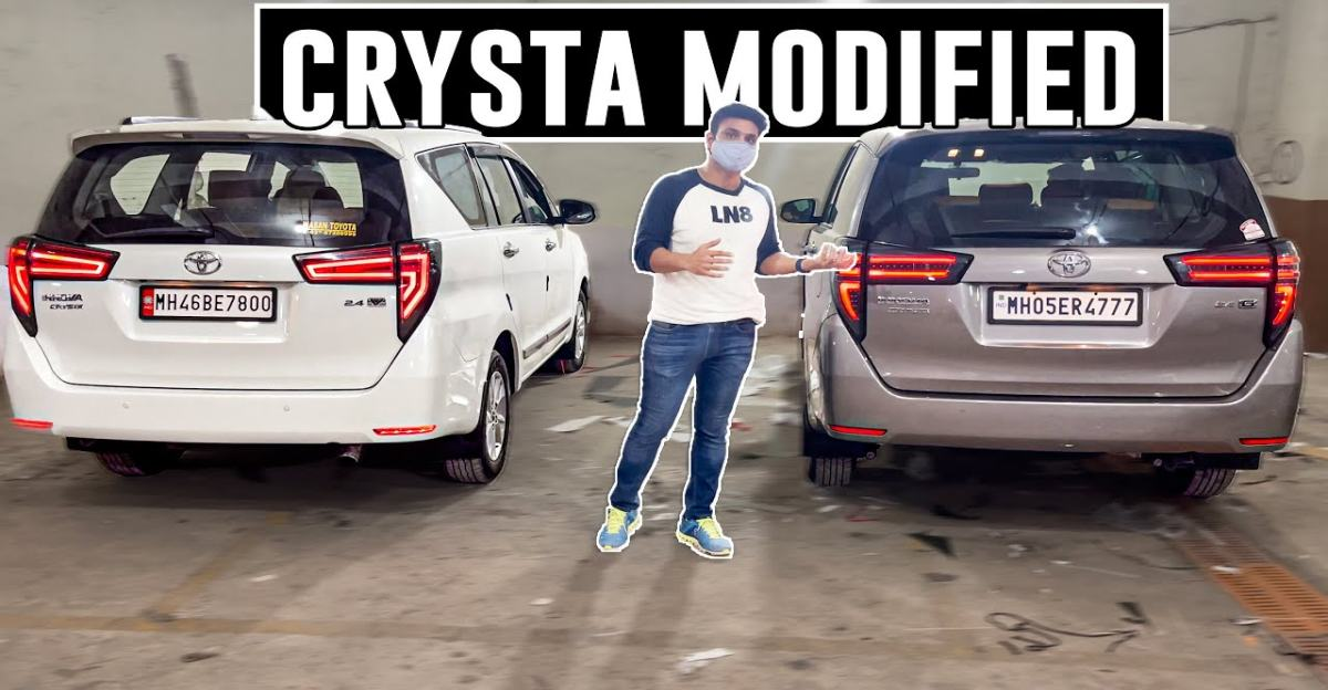 Toyota Innova Crysta MPV modified with Macan style tail light looks hot