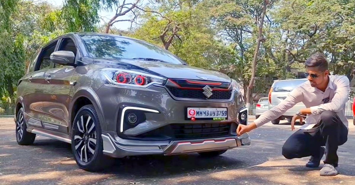 India's First Maruti Suzuki Ertiga MPV modified with electric sunroof looks neat