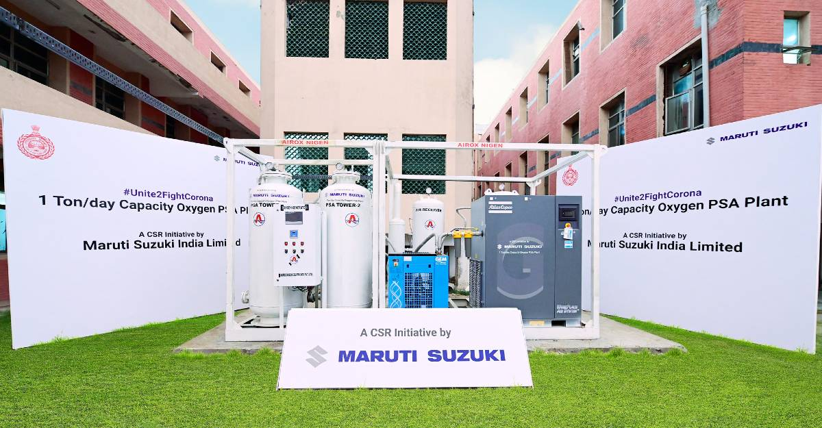 Maruti Suzuki donates 3 oxygen generators: Haryana CM inaugurates them