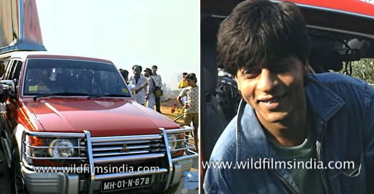 Rare footage of Shahrukh Khan driving his Mitsubishi Pajero SFX