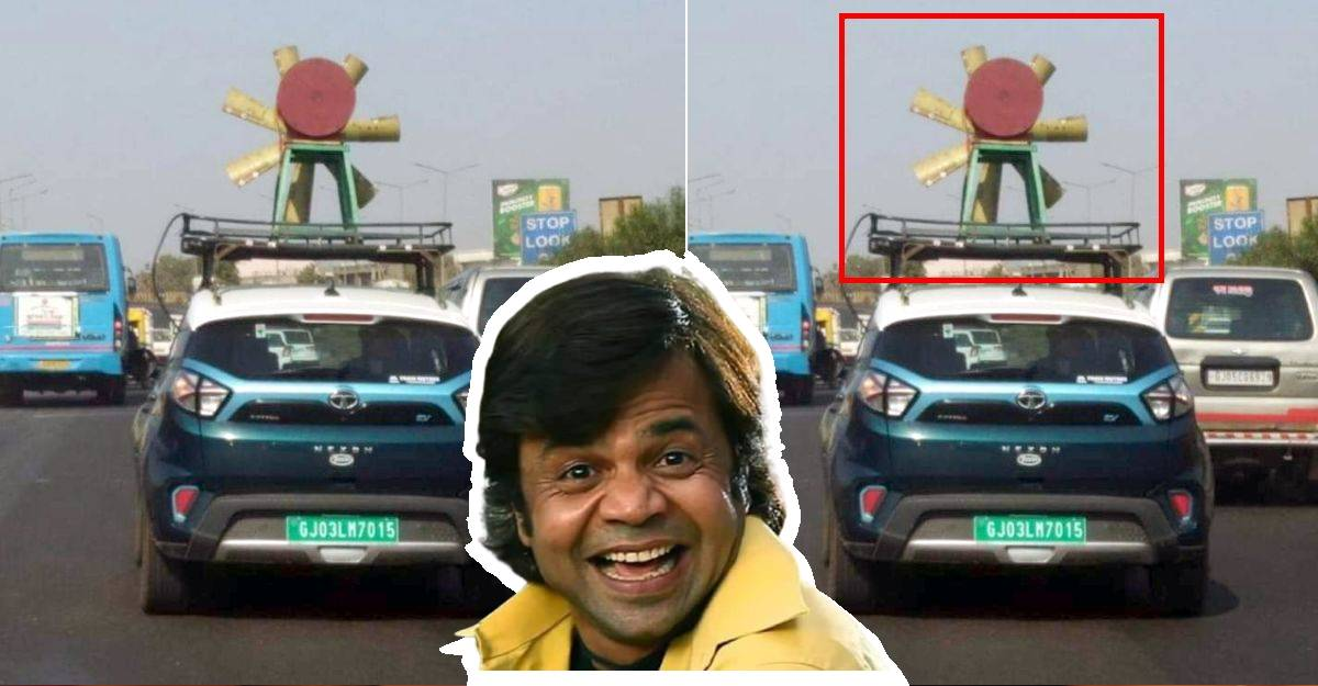 Tata Nexon EV spotted with a windmill on roof
