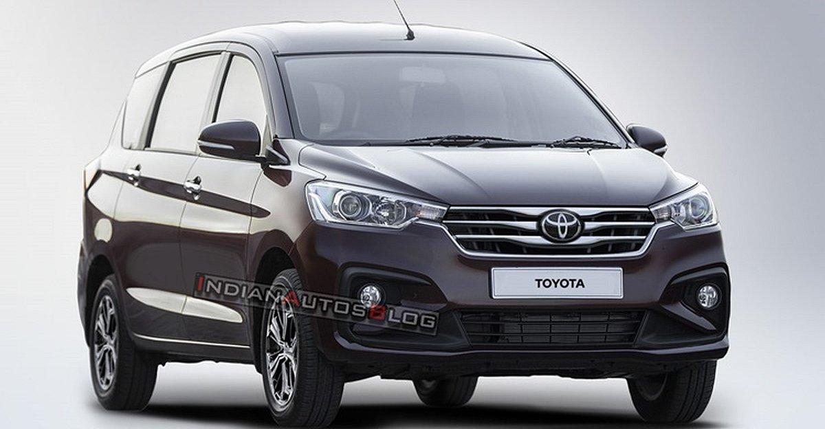Toyota-Branded Maruti Suzuki Ertiga rendered ahead of launch