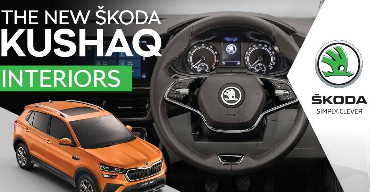 Skoda Kushaq interior showcased in detail