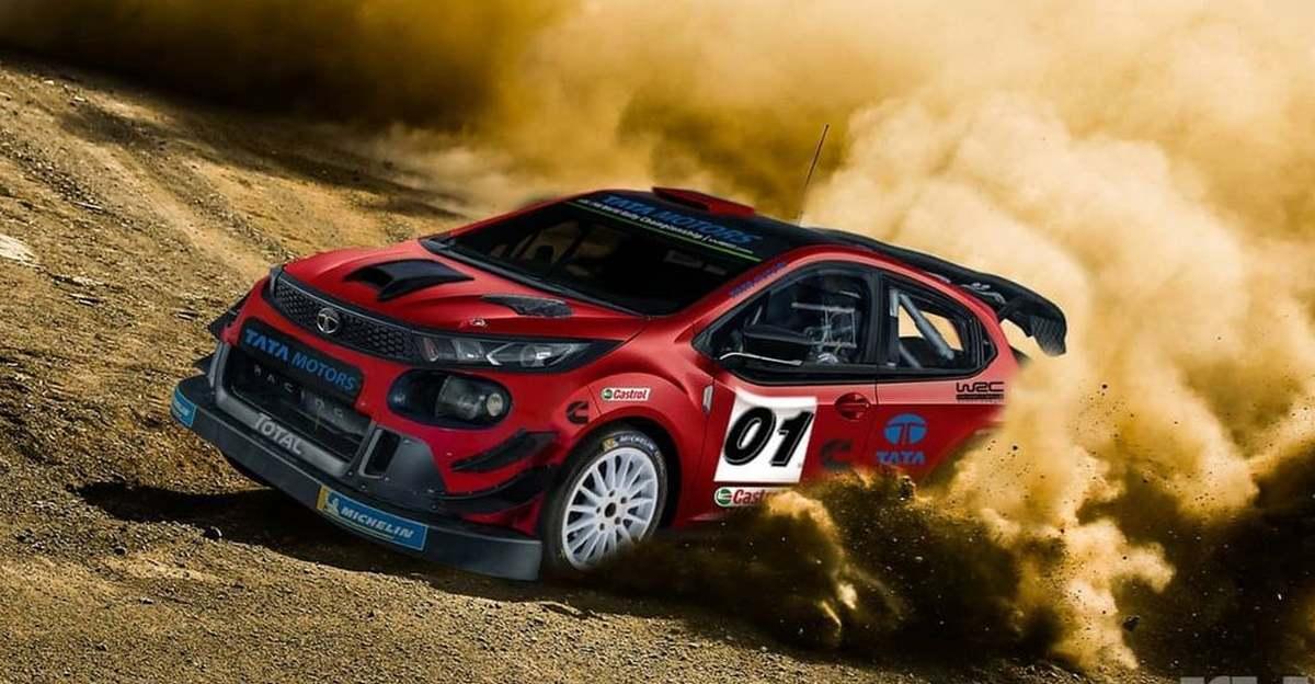 Tata Altroz imagined as a WRC Rally Car